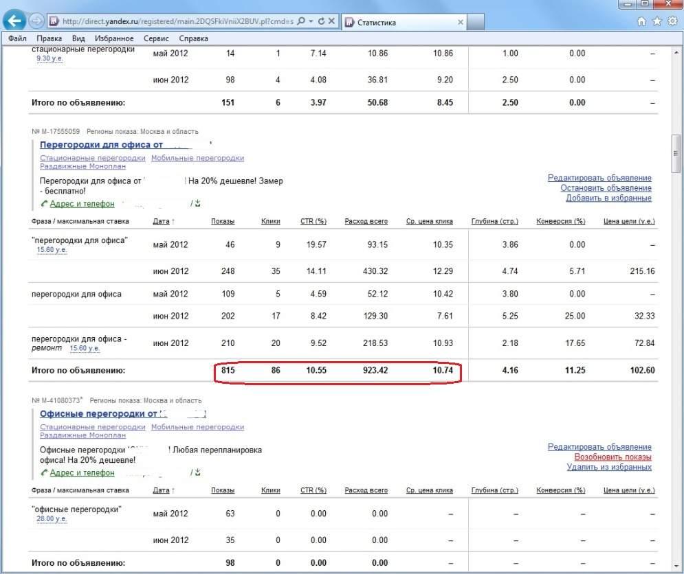 статистика по запросу перегородки для офиса